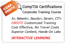 CompTIA Corporate Onsite & Online Training Courses